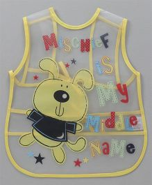 Alpaks Apron With Pocket Mischief Print - Yellow