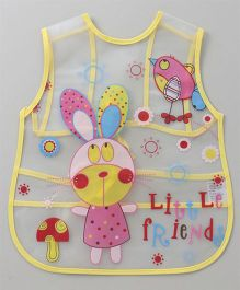 Alpaks Apron With Pocket Little Friend's Print - Yellow