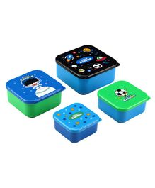 Smilykiddos Fantasy 4 in 1 Squad Container Pack of 4 - Blue Green & Black