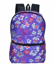 Avon Bags Waterproof Backpack Floral Design Purple - Bag Height 16 Inches