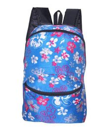 Avon Bags Waterproof Backpack Floral Design Blue - Bag Height 16 Inches
