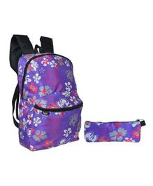 Avon Bags Waterproof Backpack With Pouch Purple - Bag Height 16 Inches