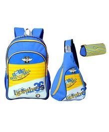 Avon Bags School Backpack Combo Set of 3 Blue - Bag Height 18 Inches