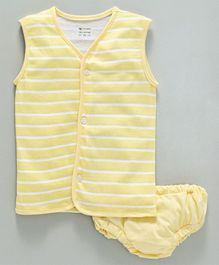 Ohms Sleeveless Vest & Briefs - Yellow