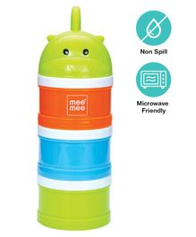 Mee Mee Multipurpose Milk & Food Storage Container - Green Orange & Blue