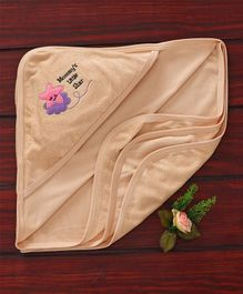 Simply Hooded Towel Star Patch - Peach
