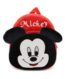 Frantic Velvet Nursery Bag Mickey Mouse Red Black - Height 14 inches