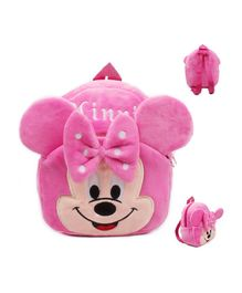 Frantic Velvet Nursery Bag Minnie Mouse Pink - Height 14 inches