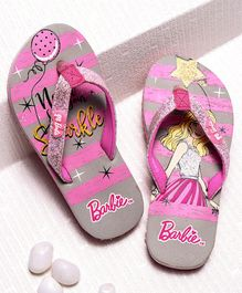 Barbie Flip Flops - Pink & Grey