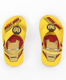 Marvel Iron Man Flip Flops With Back Strap - Yellow