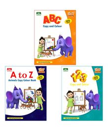 Basic Colouring Book Pack of 3 - English