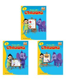 Enjoy with Crayons Colouring Book Pack of 3 - English