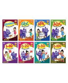 Letters & Number Writing Book Pack of 8 - English