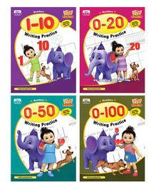 Number Writing Practice Book Pack of 4 - English