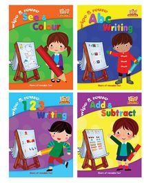 Wipe & Reuse Books Pack of 4 - English