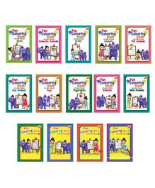 Pocket Colouring Books Multicolour Pack of 14 - English