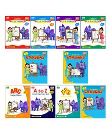 Colouring Collection Pack of 10 - English