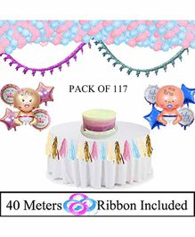 Amfin Baby Shower Decoration Combo Set Multicolour - 118 pieces