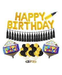 Amfin Birthday Decoration Set - Yellow & Black