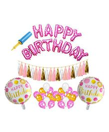 Amfin Birthday Decoration Set - Pink