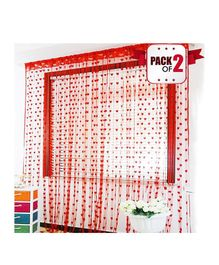 Amfin Party Windows Curtain Pack of 2 - Red
