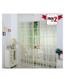 Amfin Party Windows Curtain Pack of 2 - White