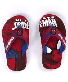 Marvel Spider Man Flip Flops With Back Strap - Red