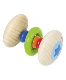 Heimess Wooden Rainbow Rattle - Multi Colour