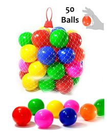 Eevovee Plastic Play Balls Pack of 50 - Multi Colour