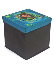 Ben10 Storage Box Cum Stool ( Medium ) - Black & Blue