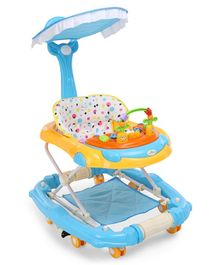 1st Step Walker Cum Rocker With Canopy - Blue