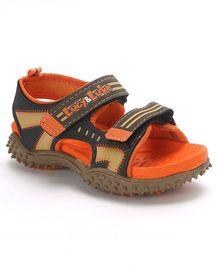 Lucy & Luke Floater Sandals With Velcro Closure - Orange