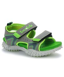 Lucy & Luke Floater Sandals With Velcro Closure - Green