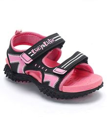 Lucy & Luke Floater Sandals With Velcro Closure - Pink