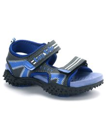 Lucy & Luke Floater Sandals With Velcro Closure - Blue