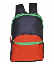 Avon Bags Waterproof Backpack Navy Blue & Orange - Height 17 Inches