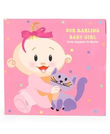 Archies Baby Record Book Girl - Pink