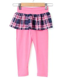 Crayonflakes Scottish Checks Full Length Skeggings  - Pink