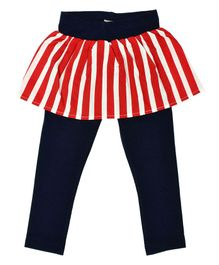 Crayonflakes Delightful Stripes Skeggings - Red & Blue