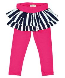 Crayonflakes Stripes Full Length Skeggings - Pink