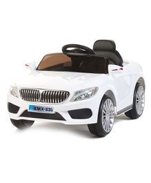 Baybee BMW 5 Series Battery Operated Remote Controlled Car - White