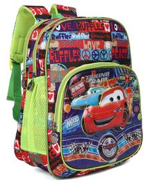 Disney Pixar Car School Bag Green & Red - Height 13 inches