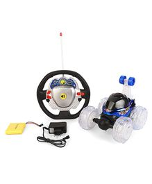 Karma 3D Remote Control Stunt Car With Music & Light -  Black & Blue