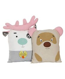 My Gift Booth Animal Cushion Set Multicolour - Pack of 2