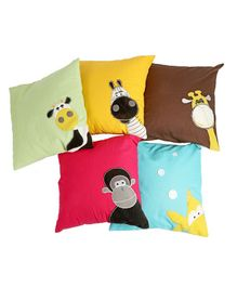 My Gift Booth Animal Cushion Cover Set Multicolour - Pack of 5