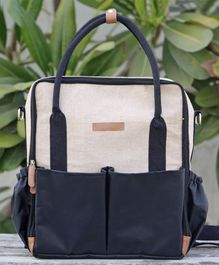 My Gift Booth Diaper Bag - Black & Beige