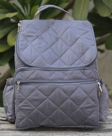 My Gift Booth Backpack Style Diaper Bag - Grey