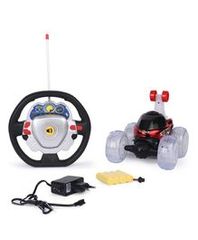 Karma 3D Remote Control Stunt Car With Music & Light - Black & Red