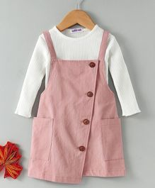 Lekeer Kids Dungaree Style Dress With Tee - Pink
