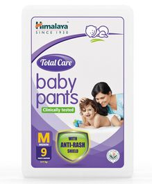 Himalaya Herbal Total Care Baby Pants Style Diapers Medium - 9 Pieces